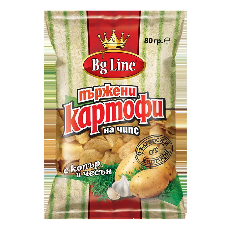 Пържени картофи с копър и чесън