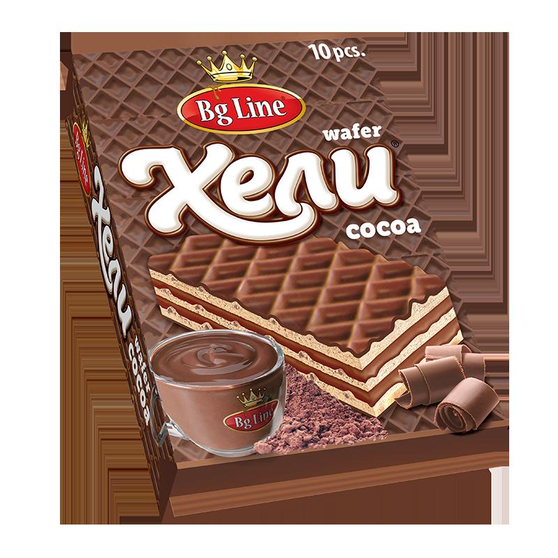 Вафли Хели пакет какао