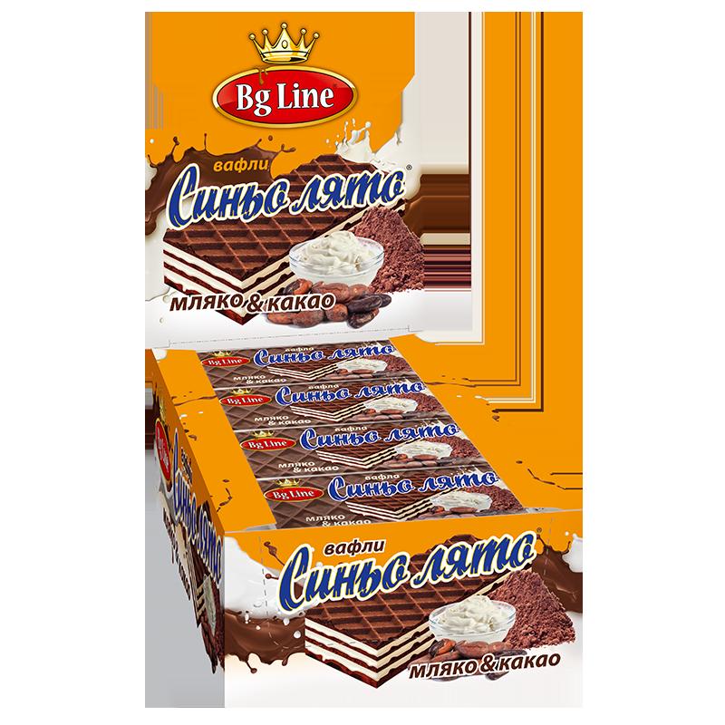 Вафли синьо лято Какао и мляко