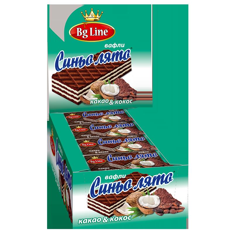 Вафли синьо лято Какао и кокос