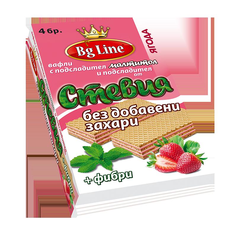 В-ли Bg Line Стевия с ягодов пълнеж 90 гр