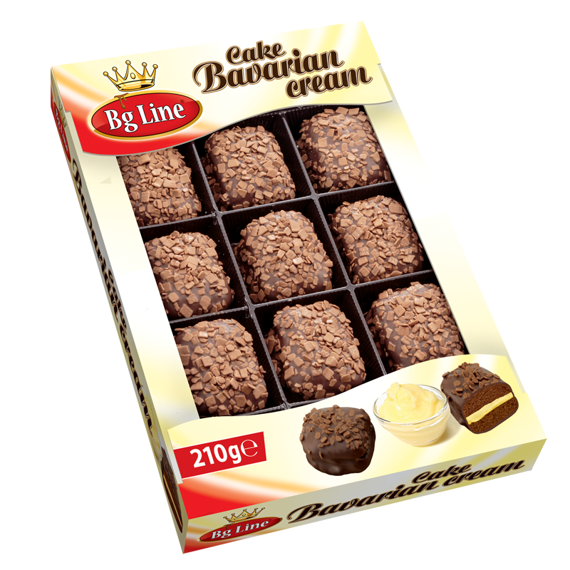 Mini cake Bavarian cream 210 gr
