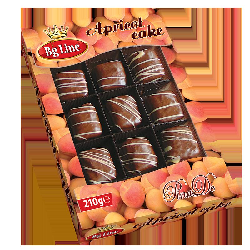 Cake Bg line Apricot 210 gr