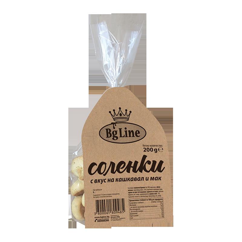 Соленки с вкус на кашкавал и мак