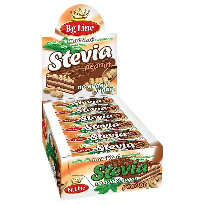 Wafer BgLine with sweetener Stevia with Peanuts