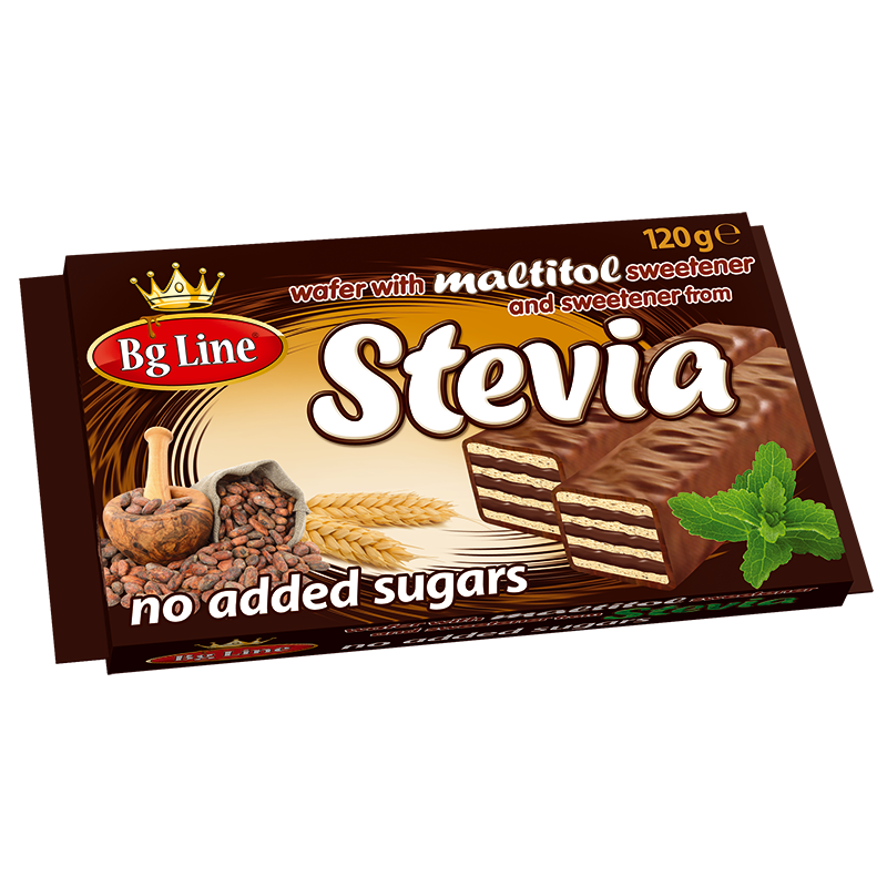 Mini Wafer Bg Line with sweetener from Stevia and cocoa filling