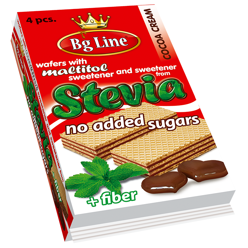 Wafer BgLine Cocoa cream with sweeteners of Stevia 90 gr