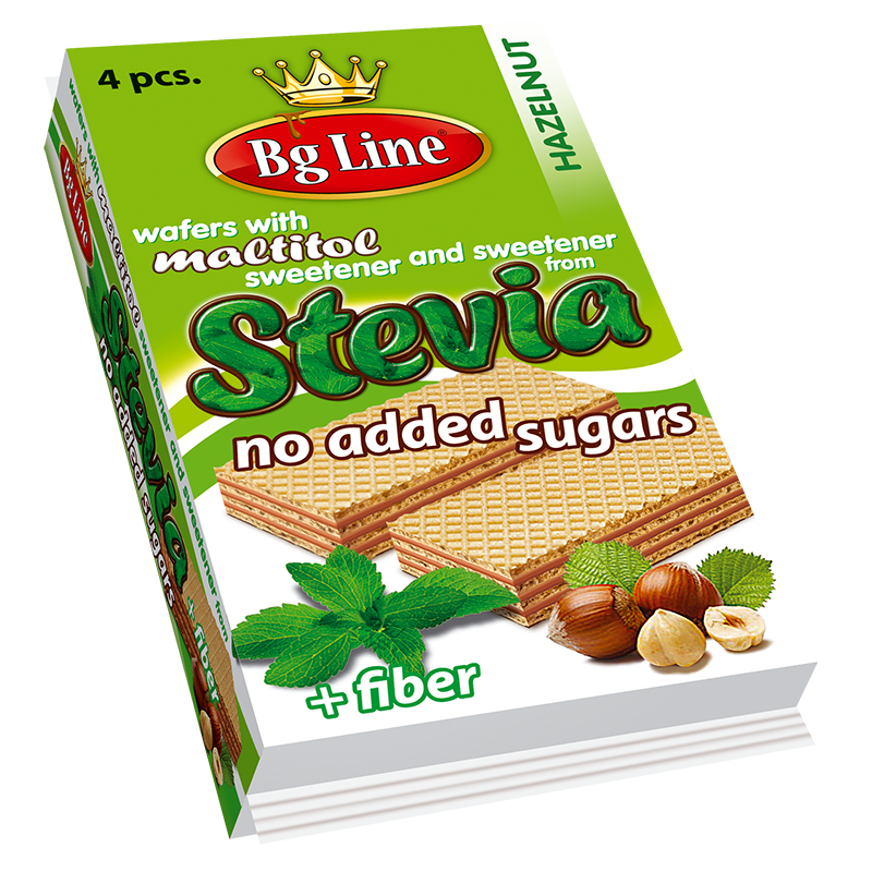 Wafers BgLine Hazelnut cream with sweeteners of Stevia 90 gr