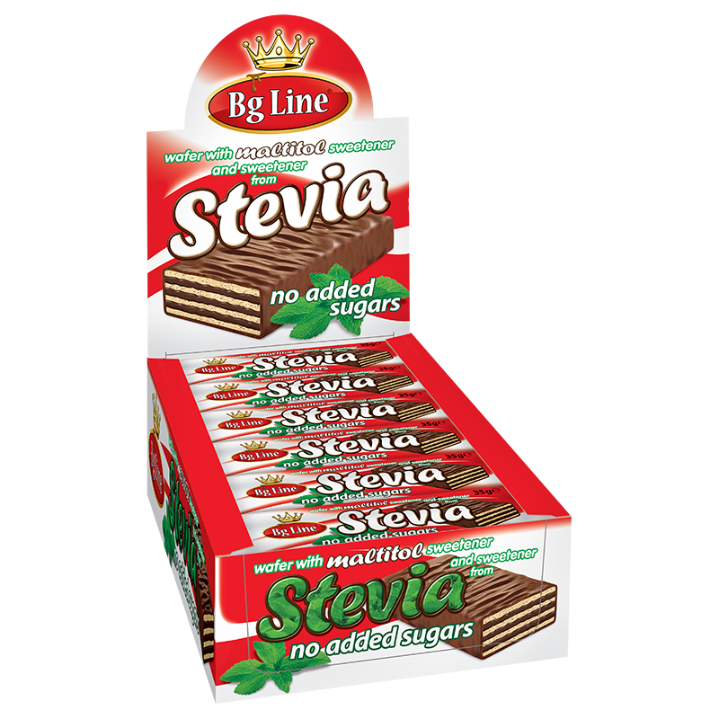 Wafer Bgline with sweetener Stevia and cocoa