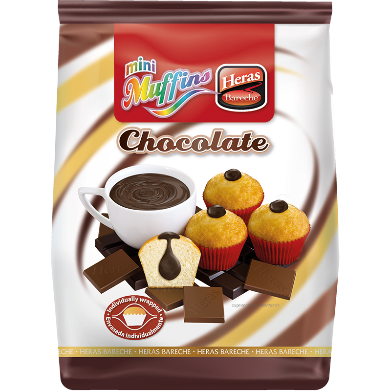 Мини – мъфинс с шоколадов пълнеж