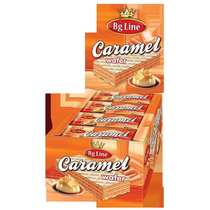 Wafer Bg Line Caramel